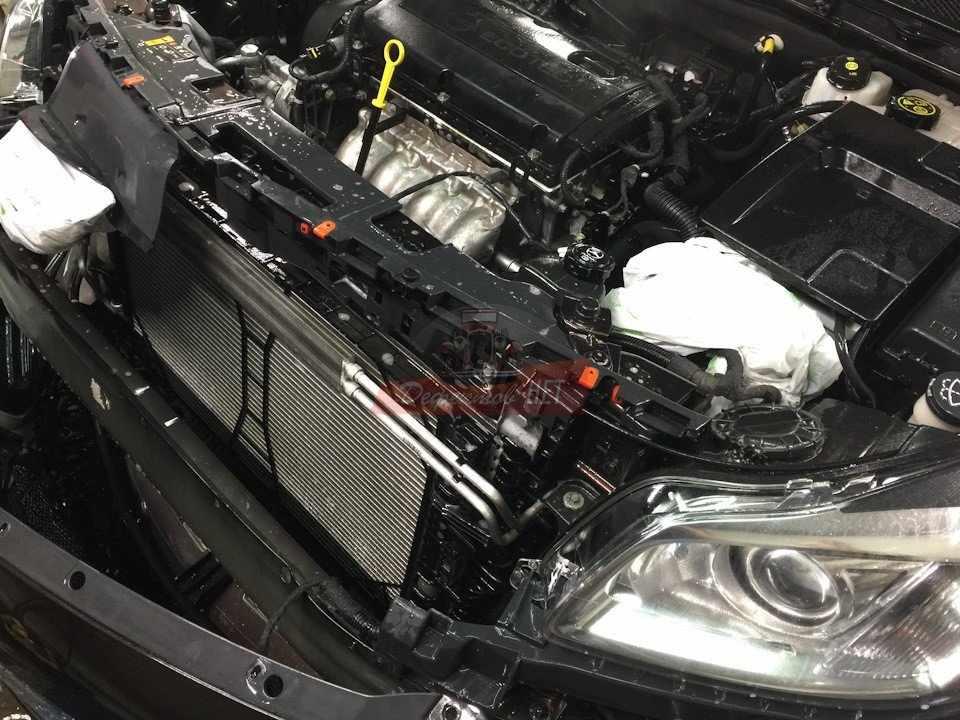Паровая чистка радиатора авто