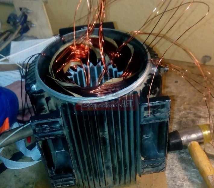 Из чего состоит статор электродвигателя?